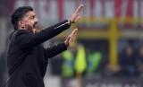 Pelatih Napoli Gennaro Gattuso. Gattuso meminta anak asuhnya tak berlebihan dalam merayakan hasil positif ini.