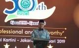 Menteri Agama (Menag), Lukman Hakim Saifuddin memberikan pidato dalam acara ulang tahun LPPOM MUI ke-30 di Balai Kartini, Jakarta, Rabu (16/1)