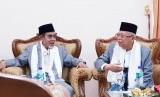 Calon Wakil Presiden (Cawapres) nomor urut 01, KH. Ma'ruf Amin  melakukan silaturahmi ke Pondok Modern Darussalam Gontor, Ponorogo, Selasa  (22/1).