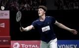 Pebulu tangkis putra Denmark Anders Antonsen. Antonsen tak sabar menghadapi Anthony Sinisuka Ginting di final Indonesia Masters 2020.