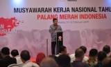 Wakil Presiden Jusuf Kalla membuka Musyawarah Kerja Nasional Palang Merah Indonesia (PMI) Tahun 2019 di Ballroom Hotel Aryaduta Jakarta, Senin (11/02).