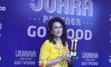 Nanik Soelistiowati, pemilik outlet pisang goreng madu yang meraih juara partner Gofood kategori jajanan sore se-Jabodetabek.