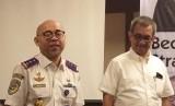 Kepala Badan Pengelola Transportasi Jabodetabek (BPTJ) Bambang Prihartono (kiri).