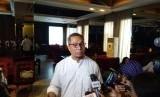 Direktur Komunikasi Politik Tim Kampanye Nasional (TKN) Joko Widodo-Ma'ruf Amin, Usman Kansong usai menghadiri sebuah diskusi di d'consulate, Menteng, Jakarta Pusat, Sabtu (6/4).