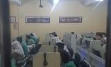 Pelaksanaan Ujian Nasional Berbasis Komputer (UNBK) di SMP Negeri 10 Solo. (ilustrasi)