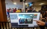 Bandara Husein Sastranegara Bandung memperketat pelayanan untuk mengantisipasi virus korona. Ilustrasi.