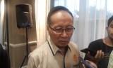 Mantan Kapolda Metro Jaya, Komjenpol (Purn) Sofyan Jacob di Hotel Gran Mahakam, Jakarta, Senin (20/5).