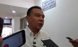 Sufmi Dasco Ahmad, saat mengajukan penangguhan penahanan terhadap Lieus Sungkharisma dan Mustofa Nahrawardaya, di Polda Metro Jaya, Senin (3/6).