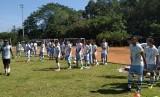Tim Persib B latihan di Lapangan Saraga, Kota Bandung, Selasa (11/6).