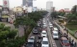 Kemacetan di ruas jalan Margonda Raya, Kota Depok (ilustrasi)