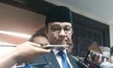 Gubernur DKI Jakarta Anies Rasyid Baswedan usai Rapat Paripurna di Gedung DPRD DKI, Jakarta Pusat, Senin (24/6).