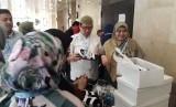 Direktur Utama Rumah Sakit Haji Jakarta, dr. Syarief Hasan Luthfie (SHL) saat menjadi pembicara dalam acara seminar Temu Ilmiah Nasional II Perhimpunan Kedokteran Haji Indonesia di Puspitek Serpong, Tangerang Selatan, Sabtu (20/7). n