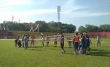 Suasana latihan Semen Padang FC di Stadion Haji Agus Salim, Padang.