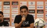 Pelatih PSS Sleman, Seto Nurdiantoro bersyukur timnya menahan imbang Persib 0-0..