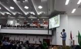 Sandiaga Salahuddin Uno saat mengisi kuliah umum di Universitas Andalas, Padang, Kamis (12/9)|.