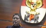 Kepala Bagian Pemberitaan dan Publikasi KPK Yuyuk Andriati memberi keterangan kepada wartawan soal penetapan tersangka baru kasus dugaan suap Penerbitan Perda Zonasi di Kepri di Gedung Merah Putih KPK, Jakarta, Kamis (12/9/2019).