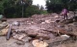 Bencana banjir bandang melanda di Malalo, Kecamatan Batipuh, Kabupaten Tanah Datar pada Jumat (17/1).