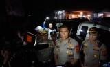 Kapolda Jabar, Irjen Rudy Sufahriadi meninjau lokasi kecelakaan bus di Ciater Subang yang menewaskan delapan orang.