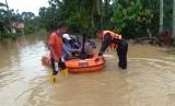 Bencana banjir yang dipicu oleh intensitas hujan tinggi merendam tujuh desa/kelurahan di Kecamatan Barus, Kabupaten Tapanuli Tengah, Sumatera Utara, Rabu (29/1).
