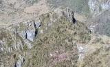 Lokasi penemuan puing helikopter MI-17 di Pegunungan Mandala, Distrik Oksop, Pegunungan Bintang, Papua.