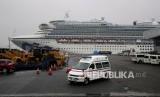 Kapal pesiar Diamond Princess. Tiga WNI yang merupakan anak buah kapal Diamond Princess terinfeksi virus corona dan berada dalam pelayanan otoritas kesehatan Jepang.