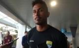 Pemain Persib Bandung, Wander Luiz di Bandara Husein Sastranegara, Kota Bandung, Selasa (18/2).