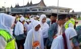 Ilustrasi jamaah haji asal Embarkasi Padang