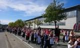 Acara kegiatan para siswa sekolahd i Norwegia menyambut hari kemerdekaan negara itu.