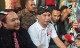 Ahmad Dhani melaporkan EF ke Bareskrim Polri, Jakarta, Jumat (19/10) atas dugaan intimidasi.