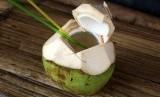 Air kelapa.
