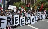 Aksi bela Palestina di San Francisco, AS (Ilustrasi)