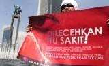 Aksi menentang pelecehan seksual. (ilustrasi)