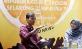 Aktivis Greenpeace Youth Yogyakarta, Deri Bagoes Prasetyo (Kiri).