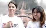 Aktris, Laura Basuki (Kiri) dan Atlet Bulutangkis Legendaris, Susi Susanti (Kanan)