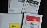 Amplop surat suara ke WNI yang ada di Norwegia.