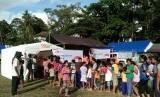 Anak-anak pengungsi memenuhi pos segar Rumah Zakat.