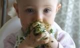 Anak sedang makan.
