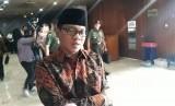 Anggota Komisi II DPR-RI Fraksi PAN, Yandri Susanto lepas RDPU Perppu Ormas dengan Perwakilan Pemerintah di Kompleks Parlemen Senayan, Kamis (19/10).