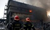 Kebakaran gedung (ilustrasi).