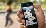 Aplikasi berbagi pesan WhatsApp. Ilustrasi
