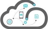 Infrastruktur Cloud. Ilustrasi
