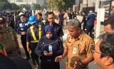 Arahan oleh masing-masing Kasudin kepada Pasukan Oranye dan Pasukan Biru di seluruh area Gelora Bung Karno (GBK), pada Grebek GBK Senin (30/7)