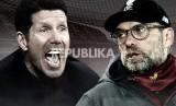 Atletico Madrid vs Liverpool, duel Diego Simeone dan Juergen Klopp.
