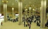 Bandara Internasional Ben Gurion di Tel Aviv, Israel.