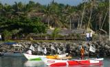 Bantuan perahu dari Bukalapak bekerja sama dengan ACT untuk nelayan terdampak tsunami Selat Sunda di Pandeglang, Banten.