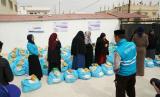 Bantuan untuk para pengungsi Palestina di Yordania dari warga Indonesia melalui DT Peduli.