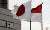 Bendera Indonesia dan Jepang. Ilustrasi
