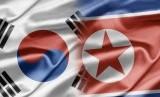 Bendera Korea Selatan dan Korea Utara. Ilustrasi