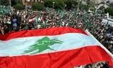 Israel Tampilkan Bendera Lebanon di Alun-Alun Ibu Kota