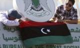 Bendera Libya. Sebuah pesawat militer Libya timur ditabrak oleh pasukan GNA. Ilustrasi.